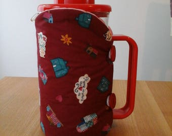 Cafetiere cosy, coffee pot cosy, cafetiere, cosy, coffee cosy, red,