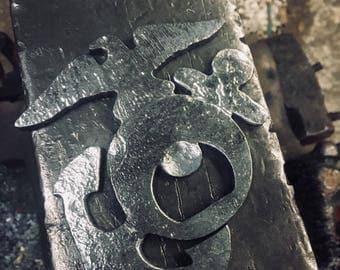 Hand forged USMC bottle opener