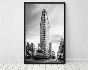 New York Print • New York City Photography NYC Pictures Flatiron Building Print Black White Print New York Wall Art New York Photography NYC