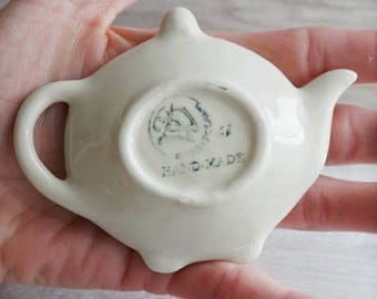 Polish Pottery- Tea Bag Plate - Tea Spoon Rest - Hostess Gift