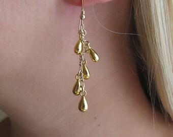 Gold Vermeil Dew Drop Earring, GE-227