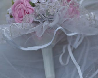 Flowers and lace bridal bouquet