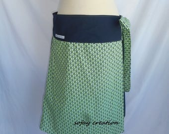 short blue skirt Navy Blue and neon green