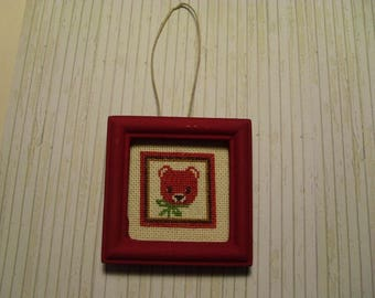 frame miniature Teddy bear