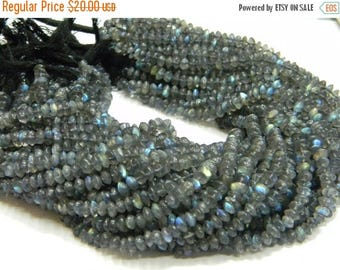 14 inch strand-- 5 mm approx-- Good Quality Labradorite Plain Roundell (Button) Beads