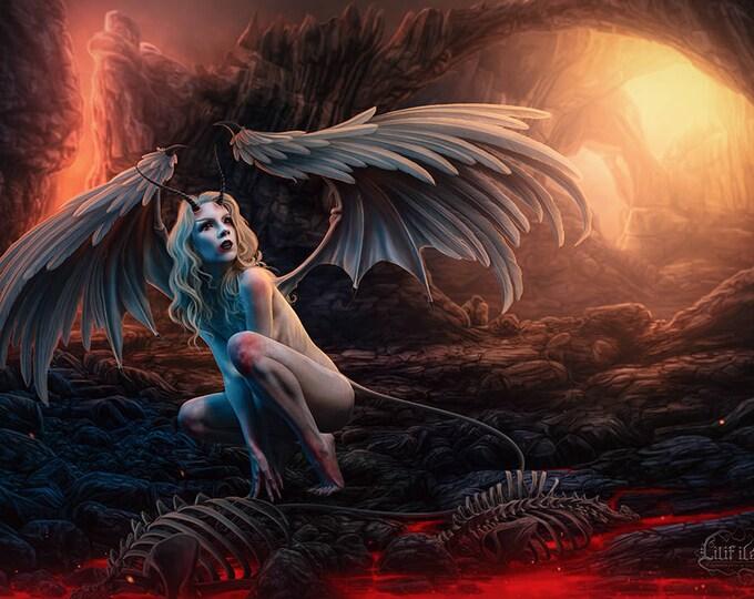 """A3 print """"Fallen Angel"""""""