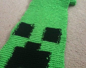 Handmade Minecraft Creeper Scarf