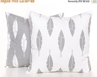 SALE ENDS SOON Gray and White Arrow Pillows, Arrow Throw Pillow, Gray Throw Pillows, Pillowcases, Bed Pillows, Nursery Decor, Boys Room Deco
