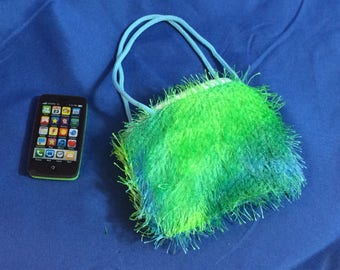 Fuzzy Purse and Smart Phone for your 18 inch dolls like American Girl Doll,   Cell Phone, 18 inch doll accessories