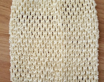 sale 3.3 instead of 3.80.BUSTIER stretch 0-16 month ivory crochet for creating dress baby tutu