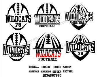 Wildcats Football Pack Bundle 2 Files - SVG, DXF, EPS, Silhouette Studio, Vinyl Cut Files, Digital Cut Files -Use with Cricut and Silhouette