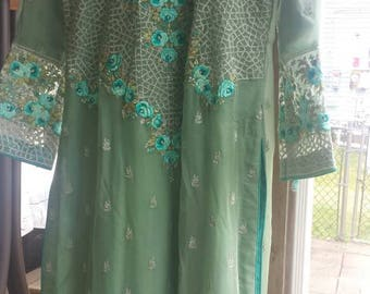 Embroidered chiffon 3pc suit