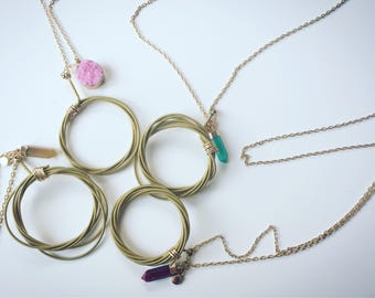 Guitar String Charm Necklace