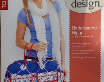 """Sewing pattern TOPP """"My design"""" 19 532 beach bag with toiletry bag in 4 languages + label"""
