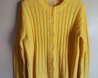 Sunshine Yellow Cardigan