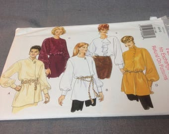 Womens Very Loose Fitting Tunic or Blouse, Size 6, 8, 10, Uncut, Butterick 3701, Fast and Easy Classic