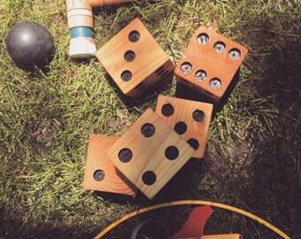 Yard Dice, Yardzee, Outdoor Lawn Games, Tailgate Game, Giant Dice, Wood Dice, Backyard Games, Outdoor Games, Dice Game, Yard Games, Dice