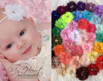Pick 5 Baby Headbands, Flower Headband, Small Baby Headband, Newborn Headband, Baby Girl Headband, Baby Hairbow, Baby Bow, Infant Headband