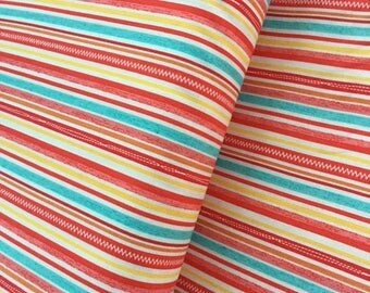 Sale Stripe in Red Cotton Fabric from the Road Trip Collection by Riley Blake