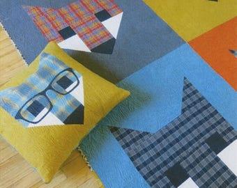 Sale Fancy Fox 2 Quilt Pattern by Elizabeth Hartman - Fat Quarter or Scrap Friendly Pattern