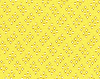 Sale Yellow Small Geo Print from the 1930's Child Smile Collection by Lecien Fabrics