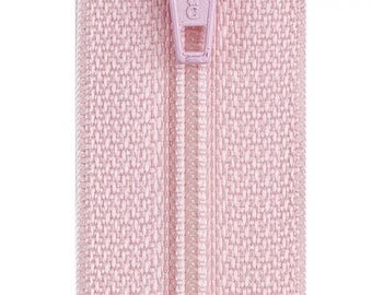 """Light Pink 14"""" All Purpose Polyester Coil Zipper from Coats and Clark"""