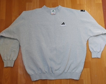 ADIDAS Equipment sweatshirt, gray vintage hip hop shirt of 90s hip-hop clothing, old school 1990s gangsta rap, hoodie, size XL
