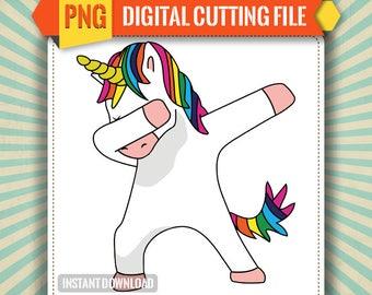 Unicorn Dab, Print and Cut png
