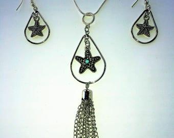 Starfish Necklace and Earringa Set