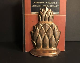 Pineapples! Vintage Brass Pineapple Bookends -  Free Domestic Shipping !