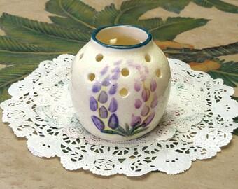 Wildflower Vase TB Pots Purple Pink Flower Signed Vintage Bud Vase Home Decor