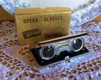 Vintage Chronex opera glasses original box theater binoculars collectible