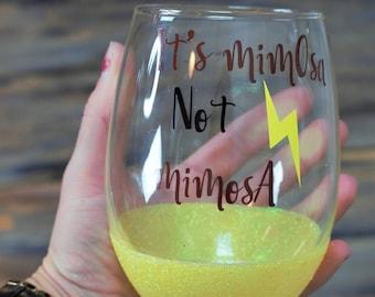 harry potter, harry potter gift, wine glass, stemless wine glass, harry potter wine glass, glitter wine glasses, best friend gift, mimosa