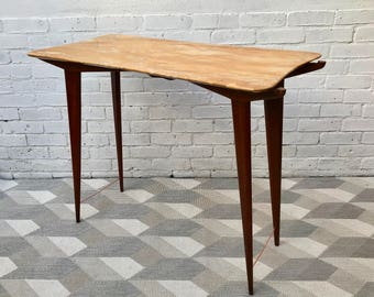 Vintage Danish Console Table Marble #519
