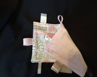 Baby tag cloth - Sunshine and Stripes