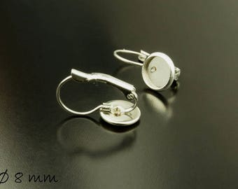 10 pcs wires Stainless steel silver for 8 mm Cabochon