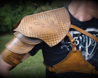 Shoulder leather armor