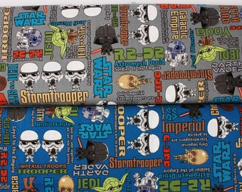 """Star Wars Fabric made in Japan FQ 45cm by 53cm or 18"""" by 21"""""""