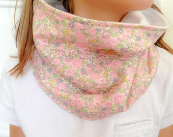 child snood in liberty betsy ann pink