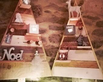 Sapins décoration en bois rustique!90cm