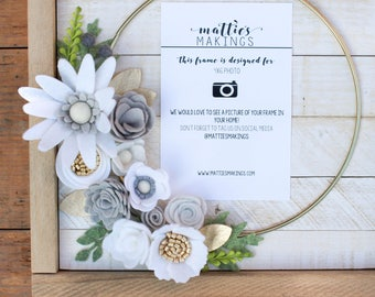 """CUSTOM SMALL RING floral frame, 11"""" overall in size"""