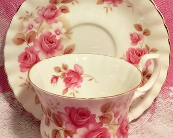 Pretty In Pink- Royal Albert Teacup and Saucer