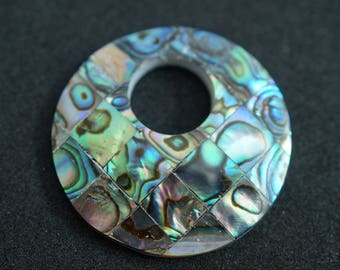 ABALONE shell PENDANT shaped donuts