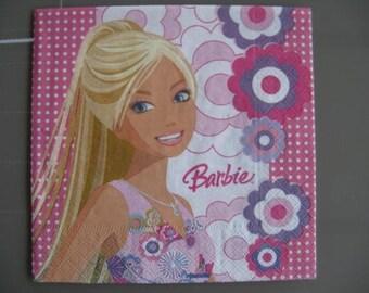 set of 2 barbie paper napkins
