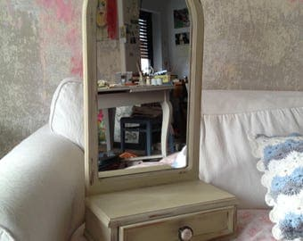 Vintage mirror tower with drawer
