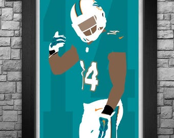 JARVIS LANDRY minimalism style limited edition art print. Choose from 3 sizes!