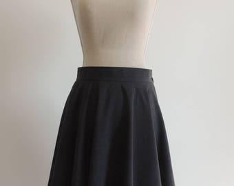 Corolla skirt in grey cotton