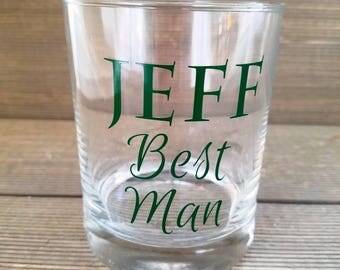 Groomsmen gifts, Best Man whiskey glass, wedding whiskey glass, Groomsmen, father of the groom, father of the bride