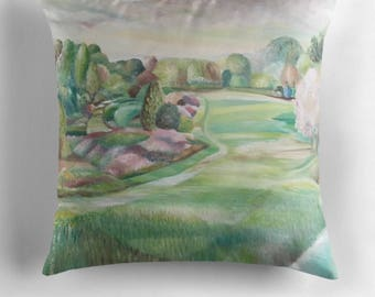 Beautiful Throw Cushion Featuring The Painting 'Harmony In The Garden'