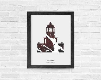Halifax Town Clock Print